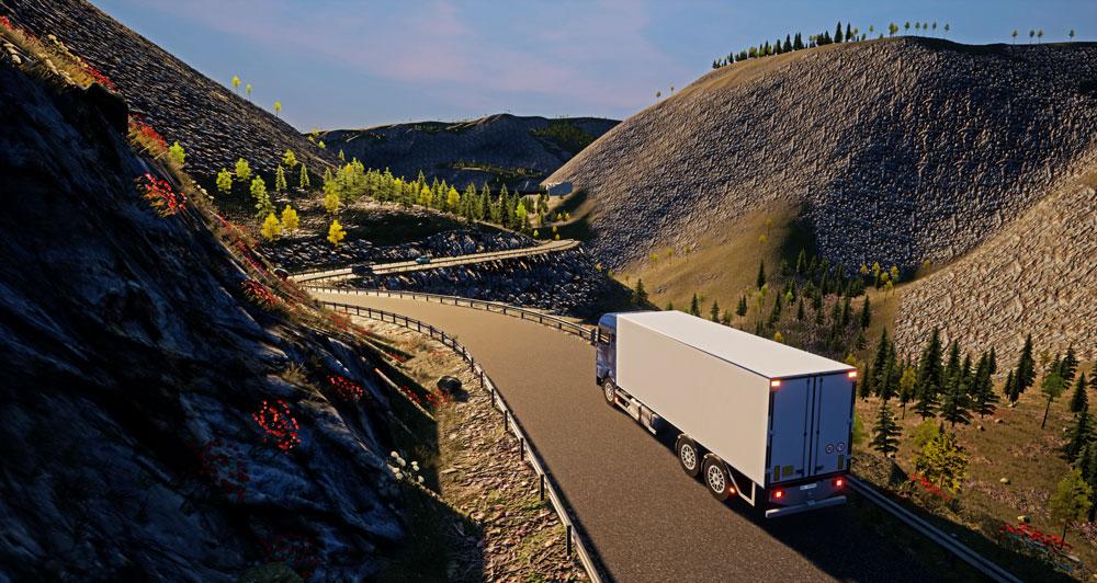 Strada di montagna - Simulatore di guida