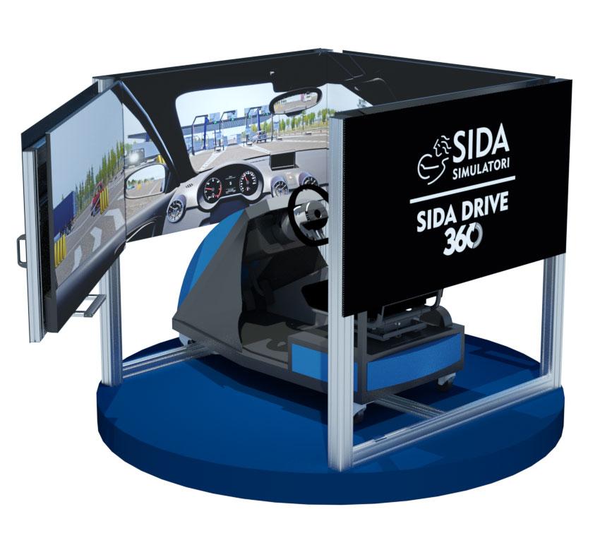 Simulatore di guida per autoscuole 360°