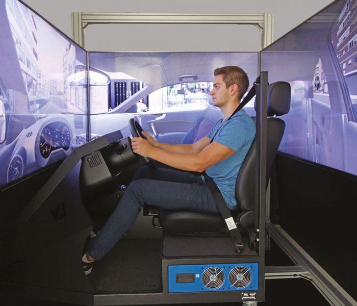 Vista Laterale - simulatore di guida SIDA DRIVE