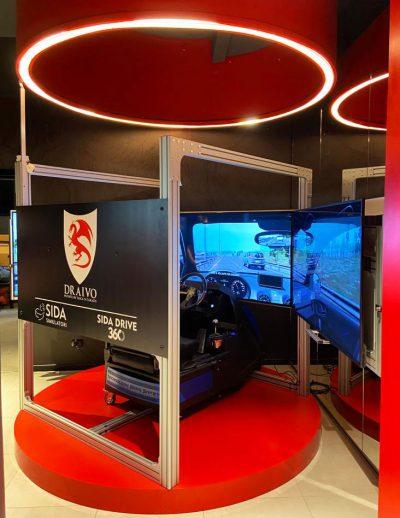 Simulatore di guida didattico SIDA DRIVE con base